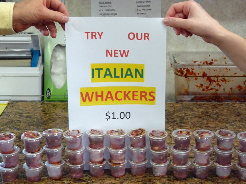 Try our new Italian Whackers for your next party!!